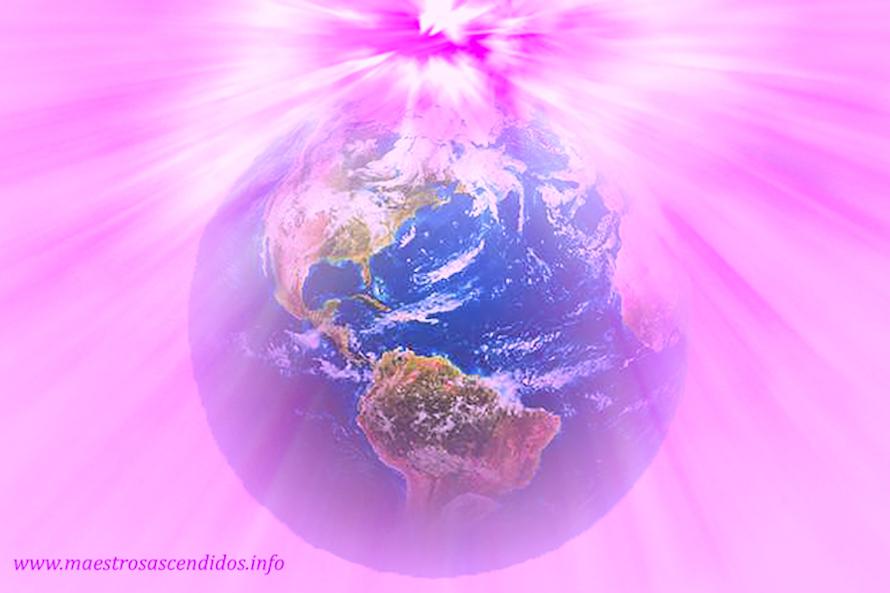 Planeta Tierra en Llama de Amor Divino