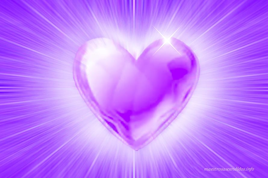 corazón Llama Violeta