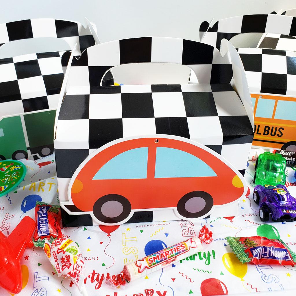 Easy DIY Race Car Party Favor Boxes