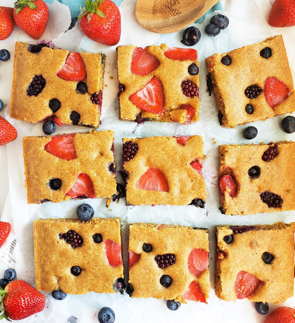 Very Berry SheetPan Pancakes