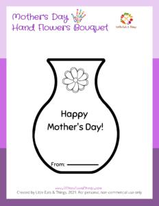 DIY Mother's Day Gift Ideas: Hand Flower Arrangement Free Printable