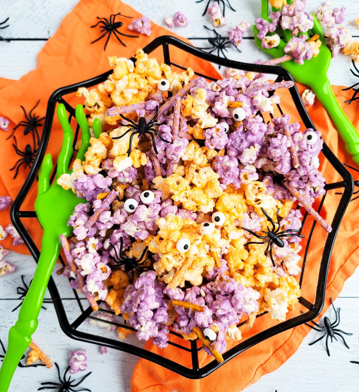 Spooky Halloween Popcorn Mix