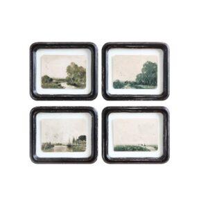 Antique Landscape Wall Decor Set