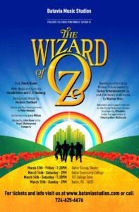 Batavia Music Studios Mars PA Wizard Of Oz