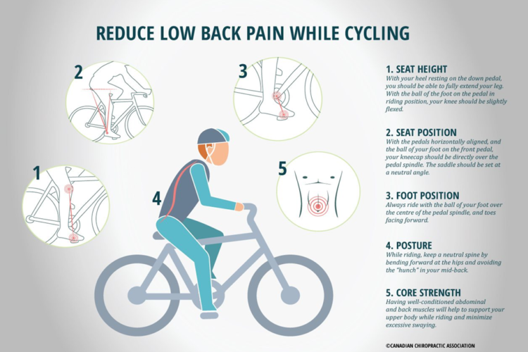 Reduce Low Back Pain While Cycling