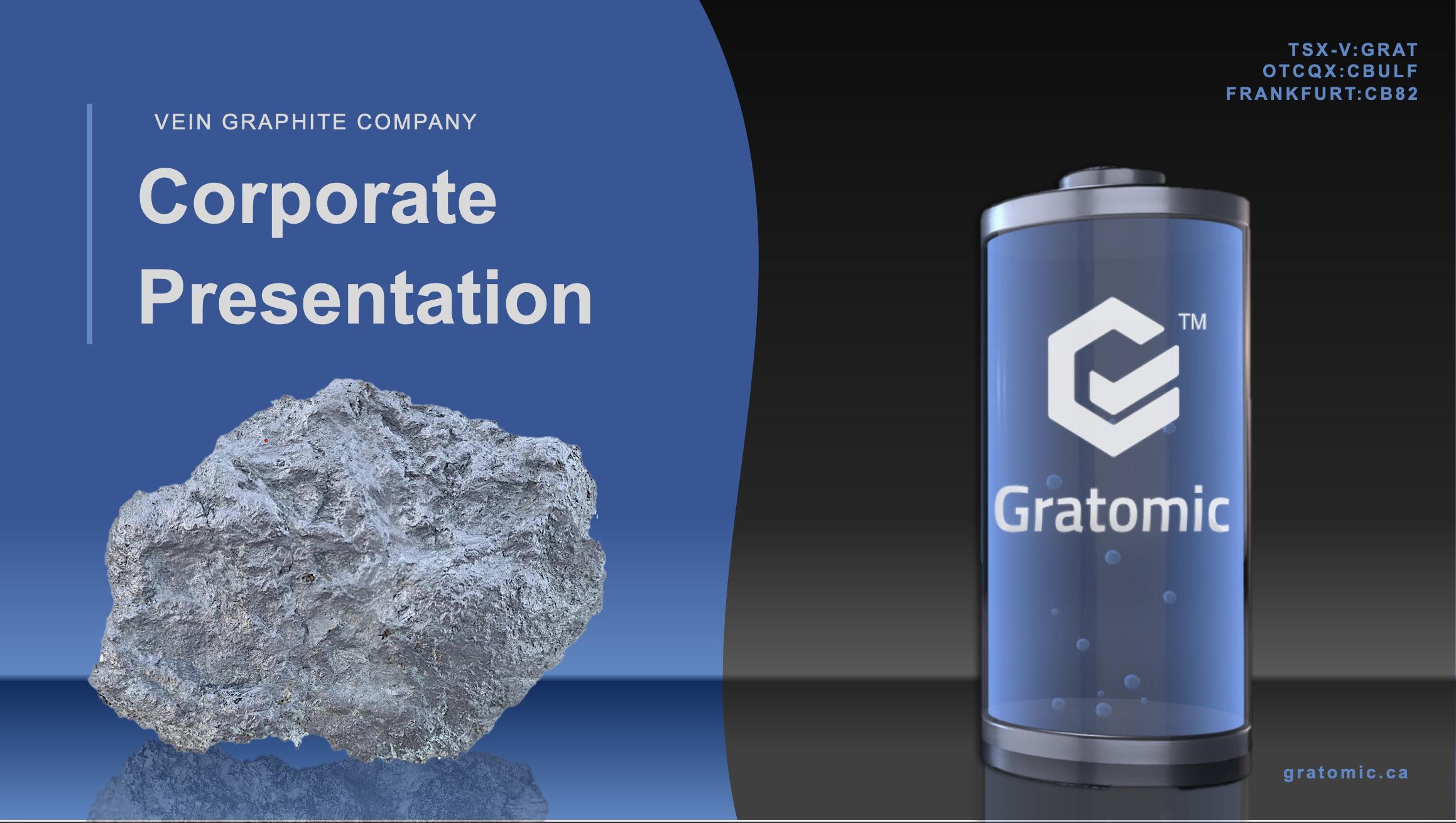 Gratomic Inc. TSX.V:GRAT OTCQB:CBULF FRANKFURT:CB82