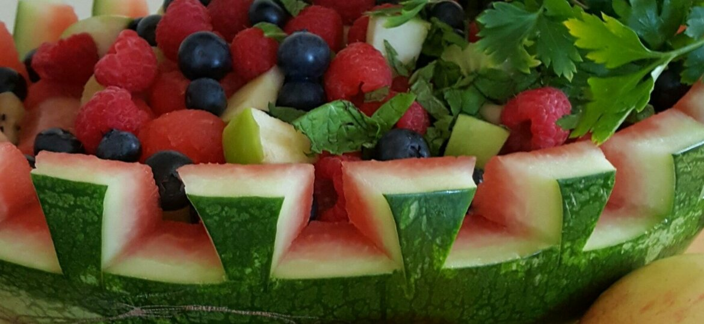 Watermelon 'Basket' of Fresh Fruit Salad