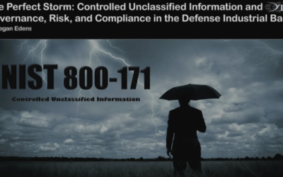 NIST 800-171: THE PERFECT STORM GOVERNANCE, RISK, AND COMPLIANCE