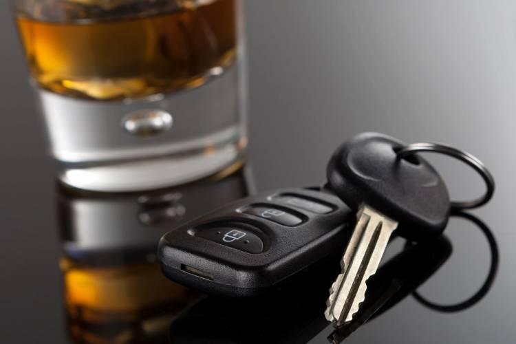 car keys with alcohol drink