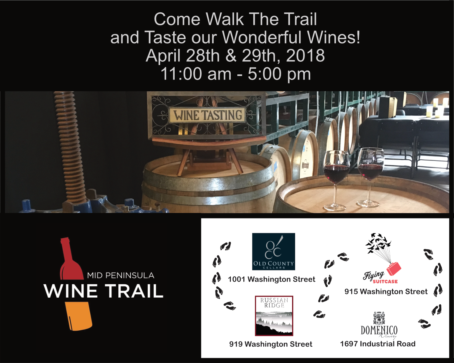 Winewalk april 28 in RR
