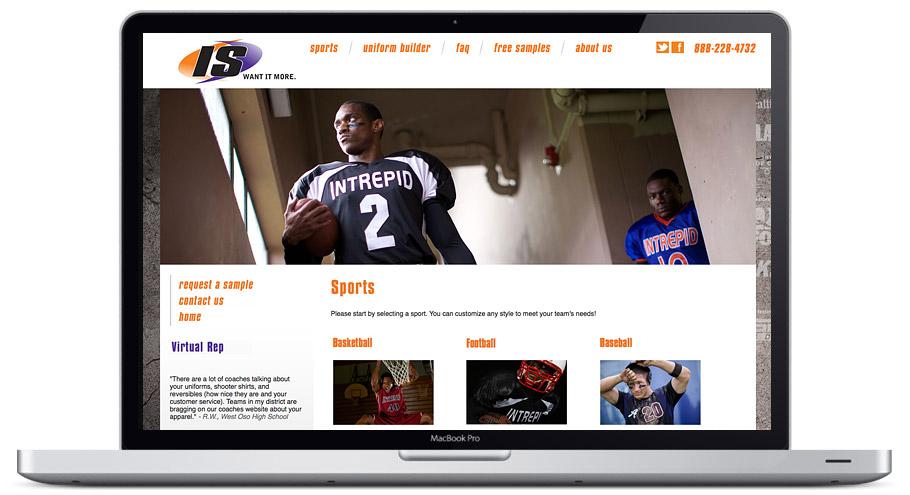 seattle web design - intrepid-sportswear