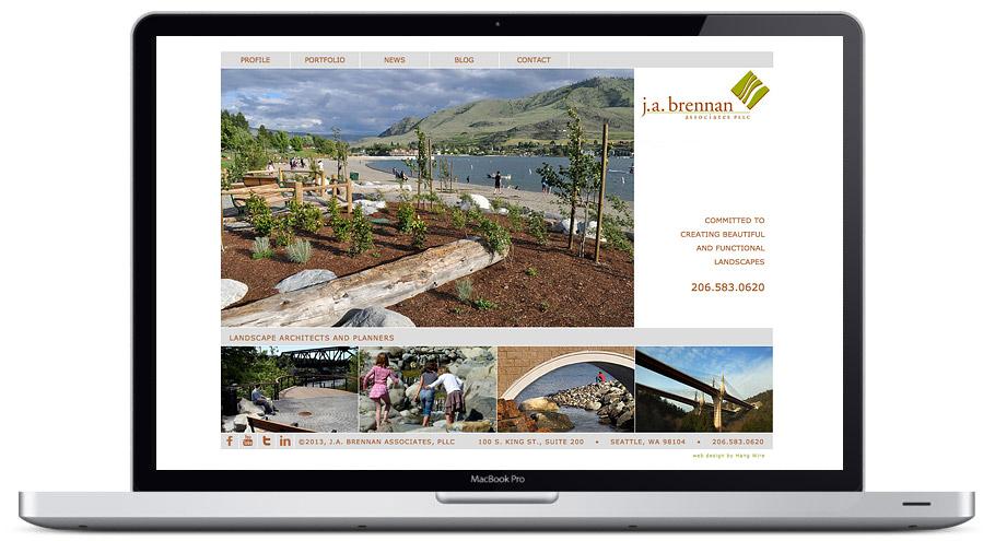 seattle web design - ja brennan
