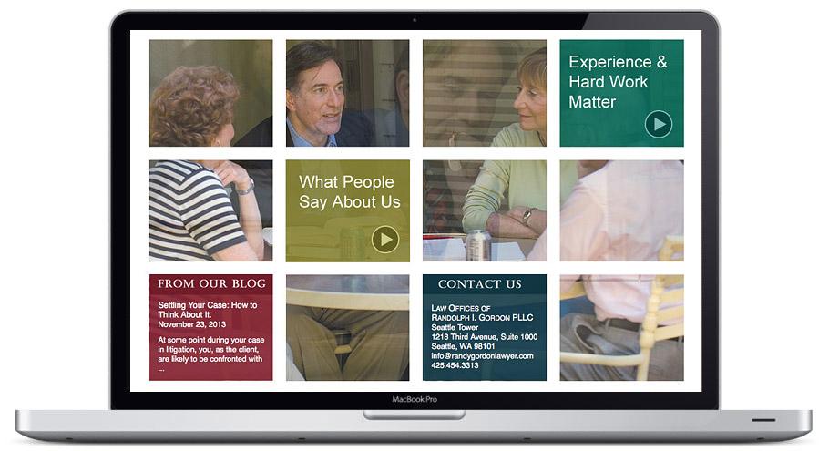 seattle web design - randy gordon lawyer