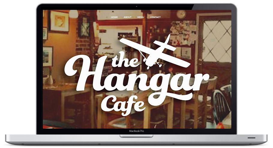 website design seattle hangar cafe