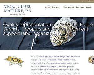 Hang Wire Web Design Seattle launches Vick, Julius, McClure, P.S.