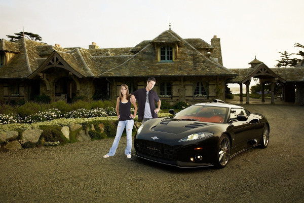 Luxury Car with Cottage