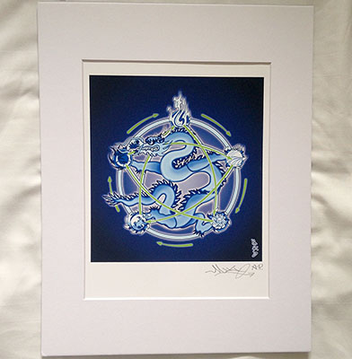 Five-Element-Dragon-Print-limited-edition-with-Mat