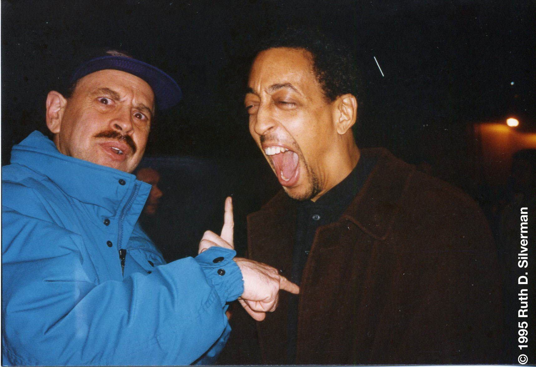 The late, great Gregory Hines was a huge bodybuilding fan. With my colleague Lonnie Teper in '95.