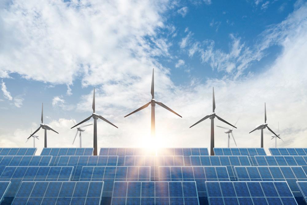 Solar and wind energy farm