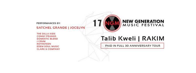 Talib Kweli and Rakim to Headline New Generation Music Festival on September 16
