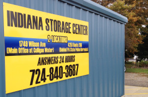Indiana Storage Center Contact Sign