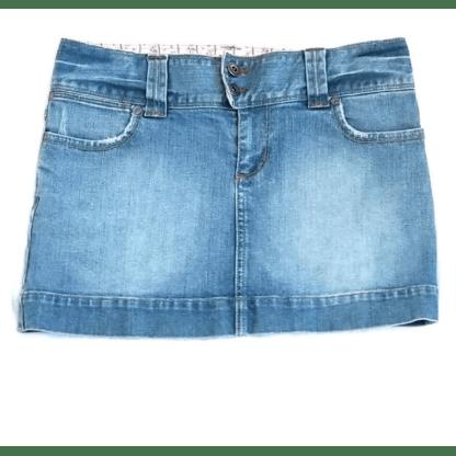 American Eagle Denim Mini Skirt (Size 0)