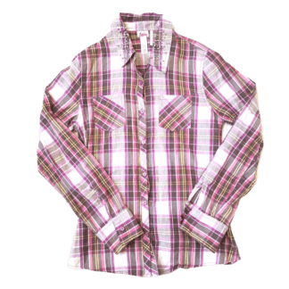 Justice Button Down Shirt (Size 18)