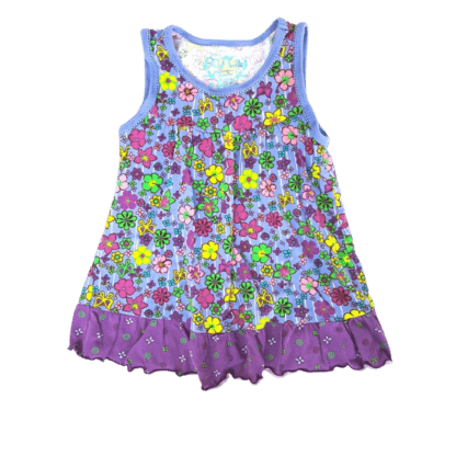 Perfect For A Princess Place Floral Tank Top (Size 4T)