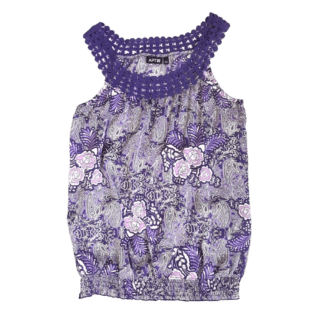 Apt 9 Sleeveless Floral Top (Size S)