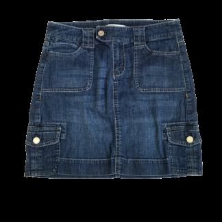 White House Black Market Denim Skirt (Size 0)