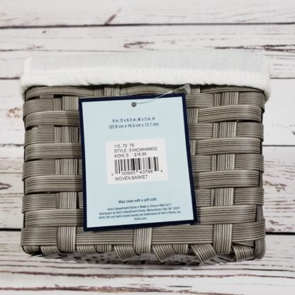 Fabric Lined Woven Basket