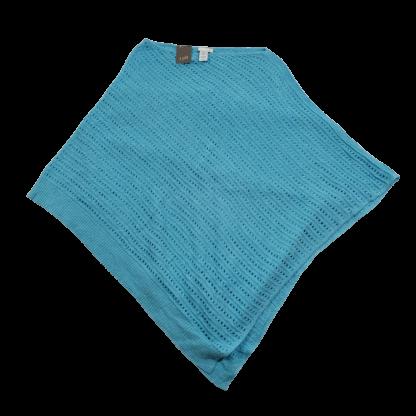 J. Jill Island Blue Poncho (One Size)