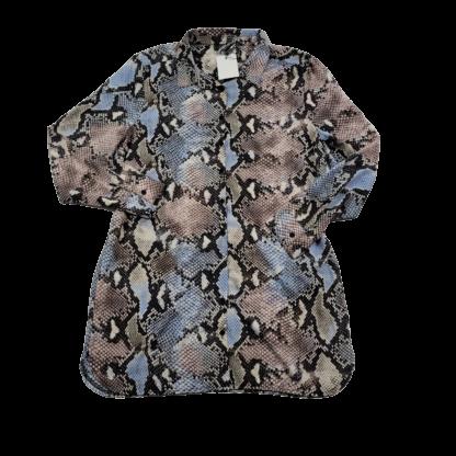 Missguided Oversized Animal Print Shirt Dress (Size 12)