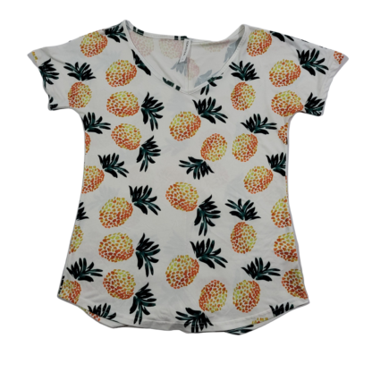 Tickled Teal Pineapple Top (Size L)