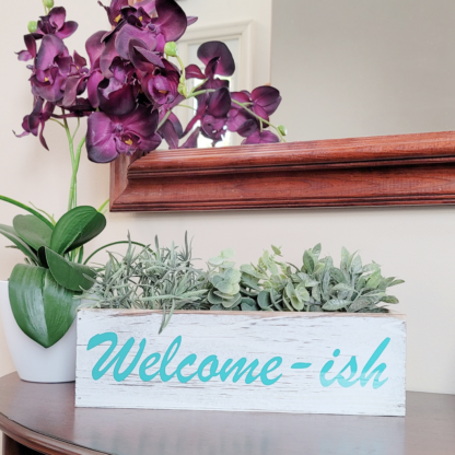 Welcome-ish Wooden Decorative Box