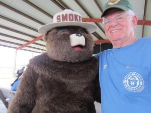 Board member Bob Gillson and ol' Smokey himself
