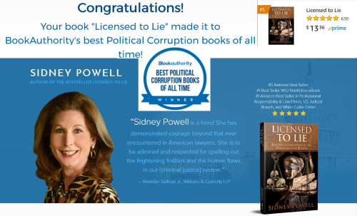 Sidney Powell, Licensed to Lie