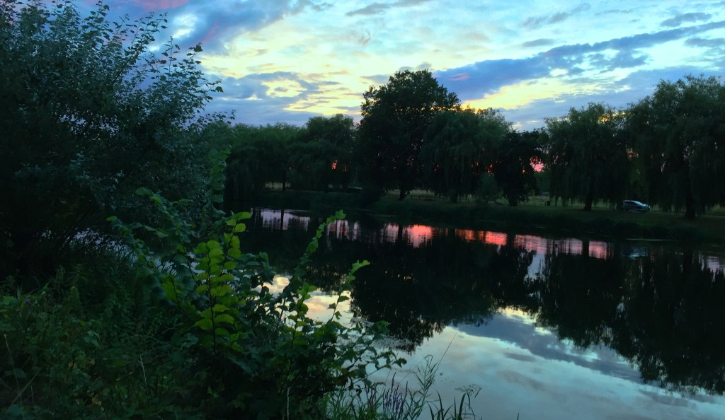 Sunset on the river Cher