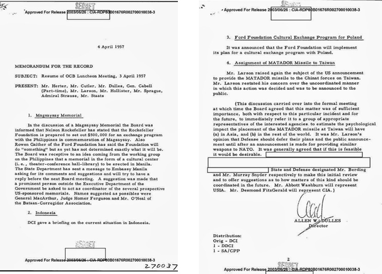 Link-1: CIA and Ford Foundation