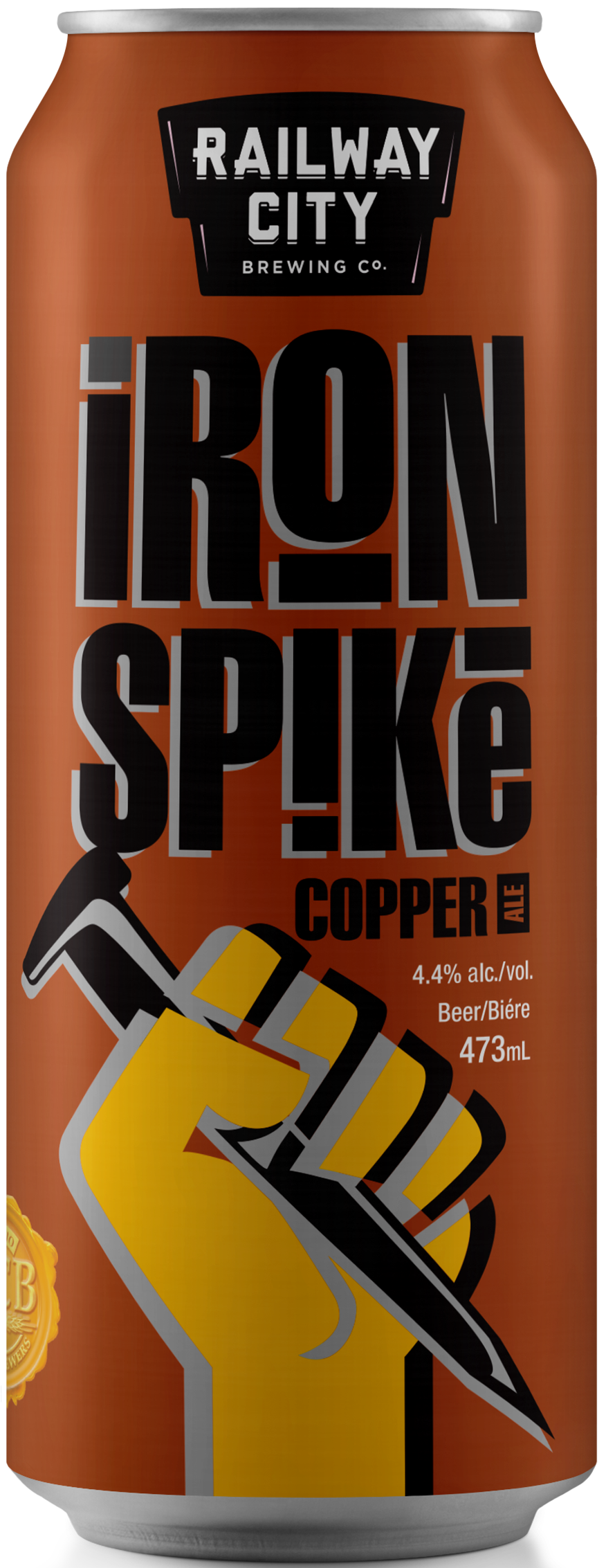 Iron Spike Copper Can