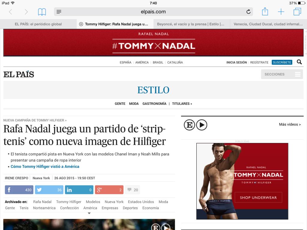 Limites Publirreportaje - Detalle de Noticia Rafa Nadal