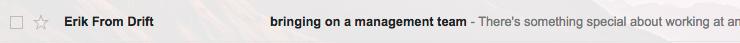 Email Marketing - Drift - ¿Demasiados Emails?