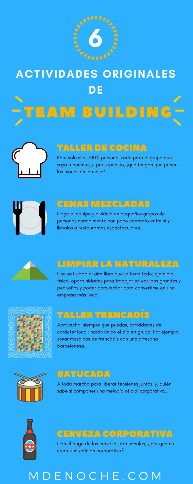 Actividades Teambuilding Originales en Barcelona - 6 Ideas
