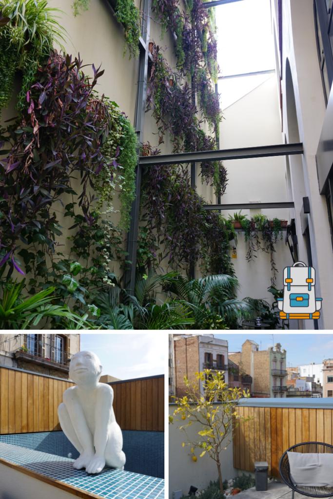 Detalles de los espacios del hotel casa del sol en Barcelona
