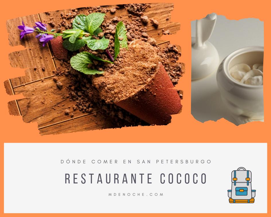 Dónde comer en san petersburgo: imágenes de los platos del restaurante cococo