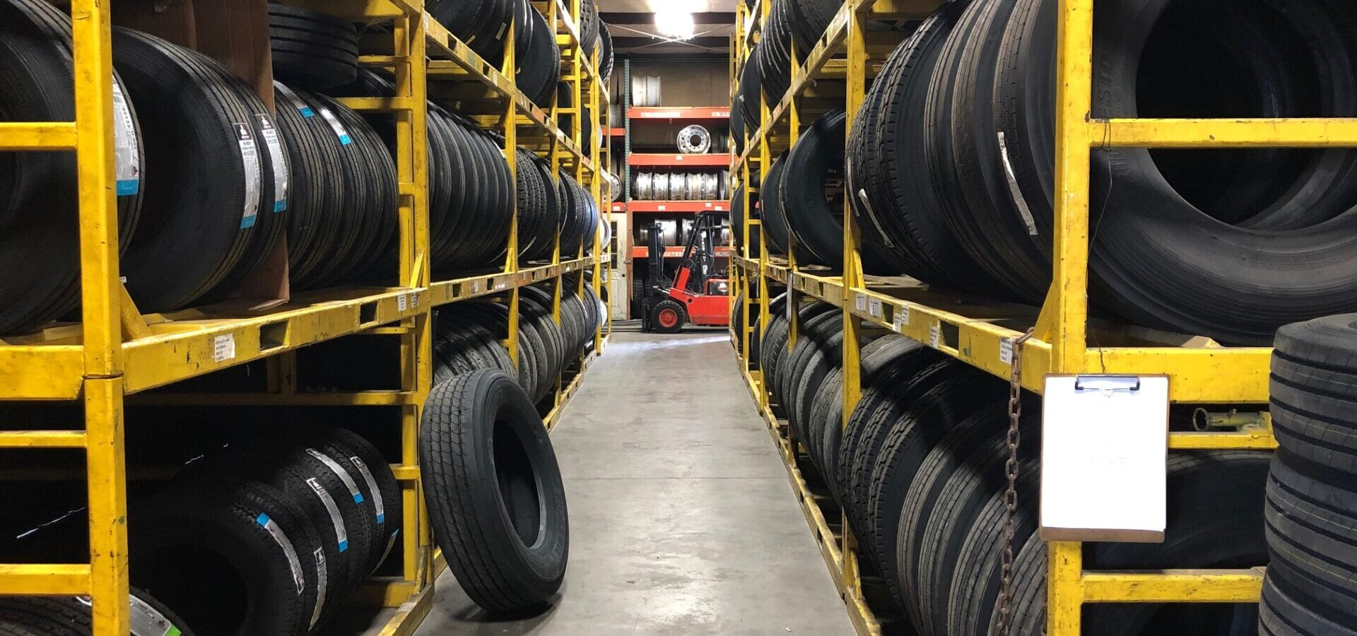racks of tires
