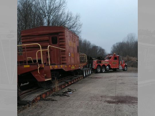 Vernell's moving train caboose