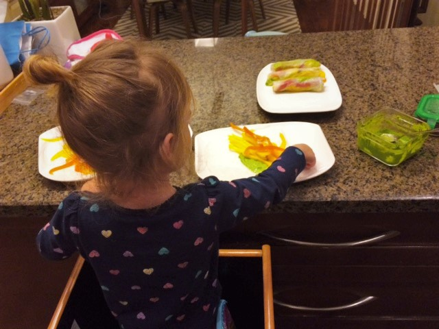 Rice paper rolls with Sienna (4)