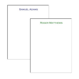 personalized professional notepad