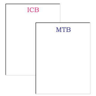 personalized notepad monogram